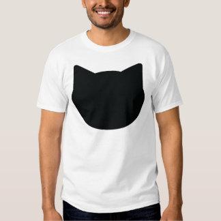 cat contour icon t-shirts