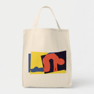 Cat Cow Pose Yoga Gift Grocery Tote Bag