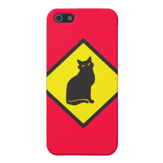 CAT crossing sign on yellow Cover For iPhone 5/5S