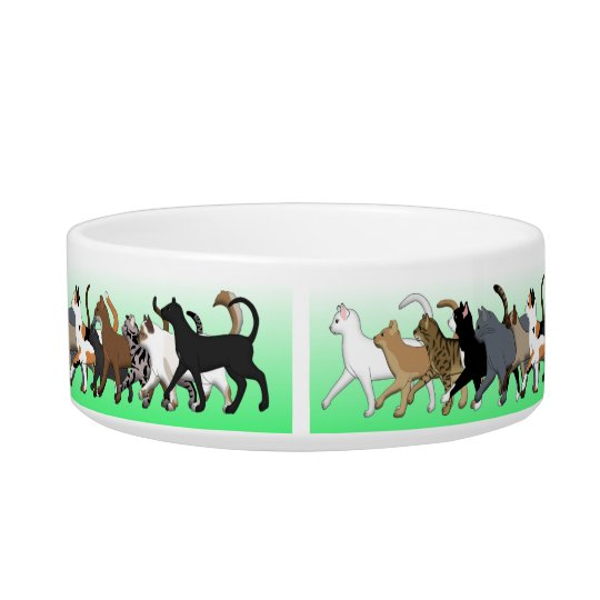Cat cup with many cats bowl