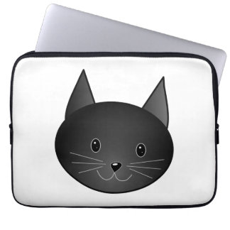 Cat. Cute black kitty. Laptop Sleeve