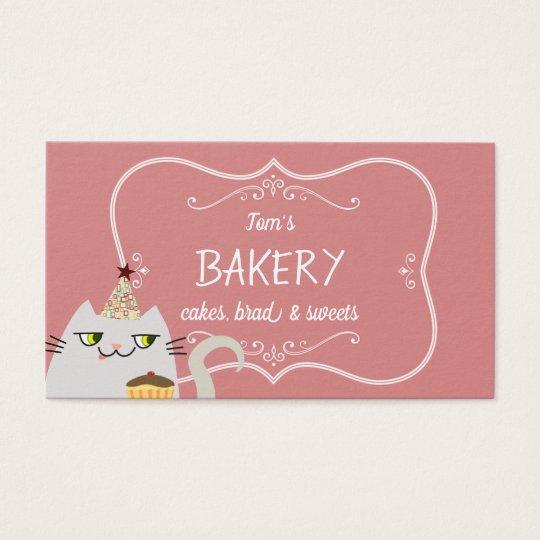 Cat Cute Cartoon Bakery Pastry Vintage Pink Sweet