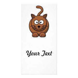 Cat Cute Cartoon Photo Greeting Card