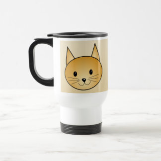 Cat. Cute ginger kitty. Travel Mug