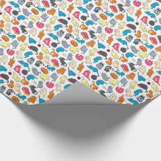 Cat, cute kittens cartoon illustration wrapping paper