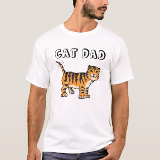 CAT DAD T-shirt, Orange T-Shirt