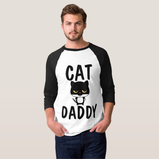 CAT DADDY DAD T-SHIRTS, MENS FUNNY TEES