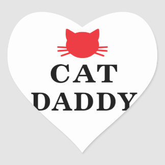 Cat Daddy Heart Stickers