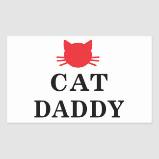 Cat Daddy Rectangle Stickers