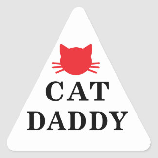 Cat Daddy Triangle Stickers