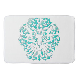 Cat Damask Bath Mat