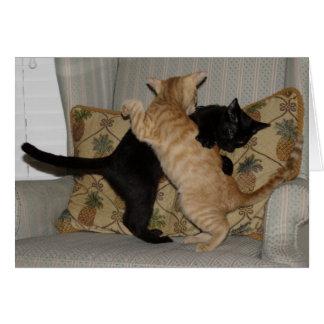 Cat Dance Greeting Card