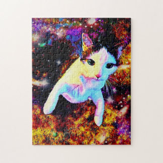 Cat Dance Kitty Colorful Cute Disco Jigsaw Puzzle