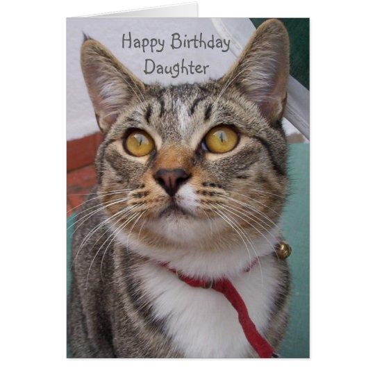 Cat Daughter Birthday Card