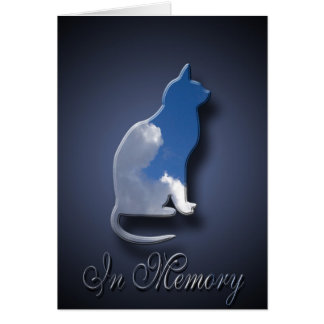 Cat Death Sympathy For Pet Owner Greeting Card