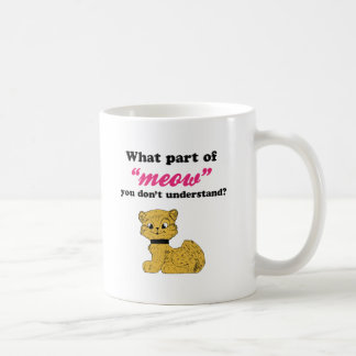 Cat Demands - What Part of Meow? Coffee Mug