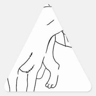 Cat Designs.jpg Triangle Sticker