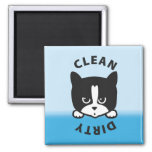 Cat Dirty Clean Dishwasher Magnet