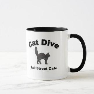 Cat Dive Coffee Mug