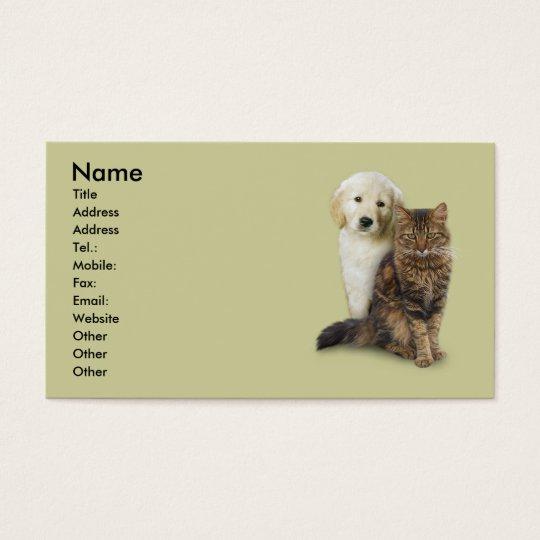 Cat & Dog Business Card