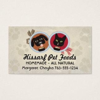 Cat dog emblem paw print homemade pet food chef