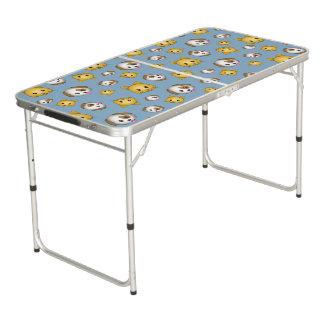 Cat & Dog Emoji Folding Table Pong Table