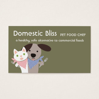 cat dog homemade pet food chef business cards