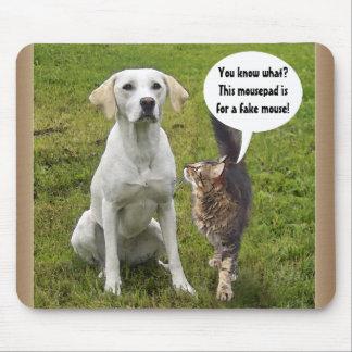 Cat & Dog talk Mouse Mat