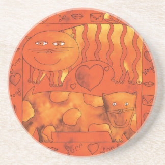 Cat & Dog Valantine Coaster