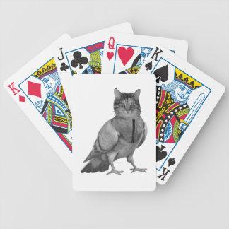 Cat Doing Bird Bicycle Playing Cards