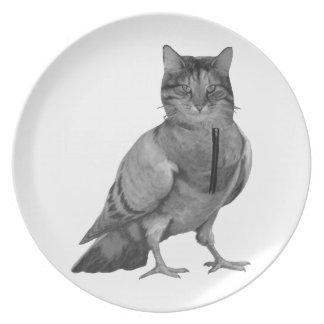 Cat Doing Bird Dinner Plates