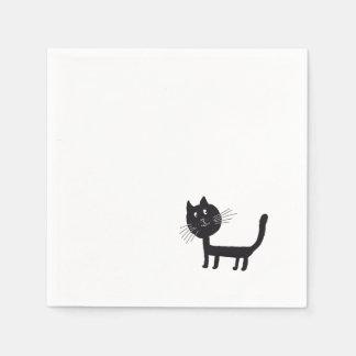 Cat Drawing Paper Napkins