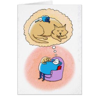 Cat Dreams Card