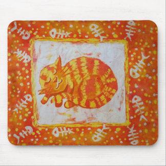 Cat dreams of fish mouse pad