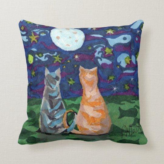 Cat Dreams Reversable Art Cushion