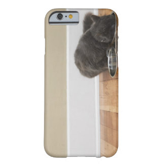 Cat eating from bowl barely there iPhone 6 case