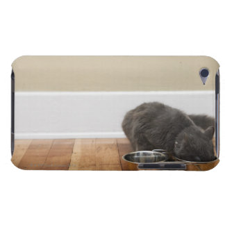 Cat eating from bowl iPod touch case