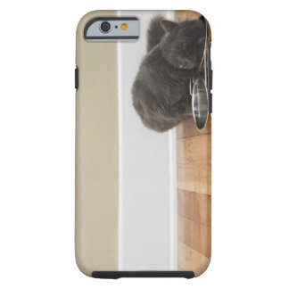 Cat eating from bowl tough iPhone 6 case
