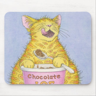 CAT eating ice cream Mouse Mat