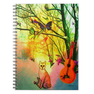 Cat Enjoys an Evening Sunset Notebooks