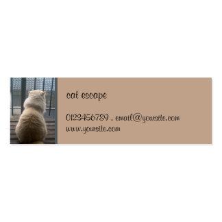 Cat Escape small Business Card