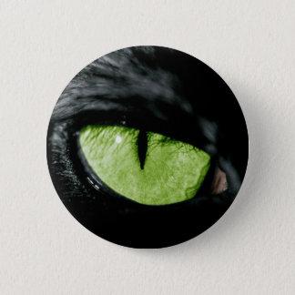 Cat eye 6 cm round badge