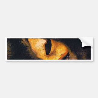Cat Eye Bumper Sticker