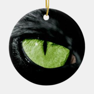 Cat eye christmas ornament