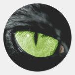 Cat eye classic round sticker