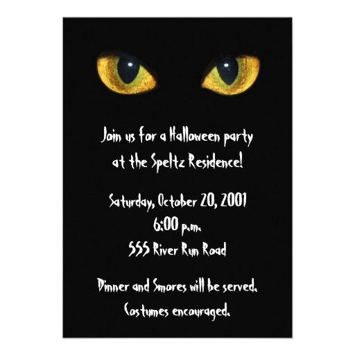 Cat Eye Invitation
