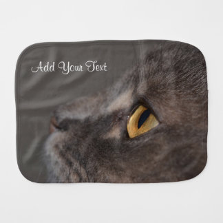 Cat Eye-Macro by Shirley Taylor Burp Cloth