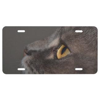 Cat Eye-Macro License Plate