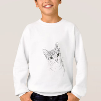 Cat Eyes A Pencil Drawing Sweatshirt