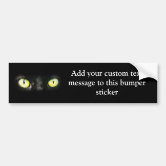 Cat Eyes, Black and Yellow Stare Bumper Sticker